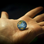 world in hands photo